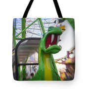 Roar Too The Green Dragon Ride Tote Bag