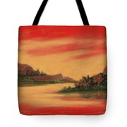 Dragon Sunset Tote Bag