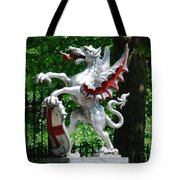 Dragon With St George Shield Tote Bag