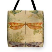 Dragonflies Among The Ferns-12415 Tote Bag
