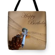 Dragonfly Birthday Card Tote Bag