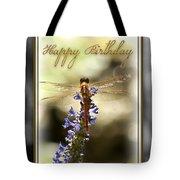 Dragonfly Birthday Card Tote Bag by Carolyn Marshall