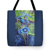 Dragonfly Hunt For Food In The Flowerhead Tote Bag