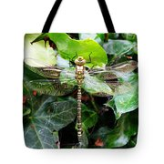 Dragonfly In An English Garden Tote Bag