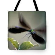 Dragonfly In Flight Tote Bag