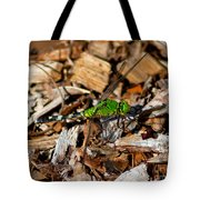 Dragonfly In Mulch Tote Bag