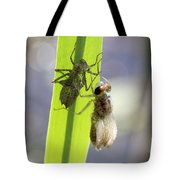 Dragonfly Metamorphosis - Fourth In Series Tote Bag