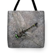 Dragonfly On Rock Tote Bag