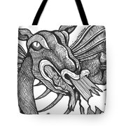 Dragon's Fire Tote Bag