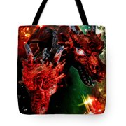 Dragons W/border Tote Bag