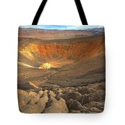 Draining Into The Crater Tote Bag