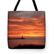 Dramatic Flaming Sunset Tote Bag