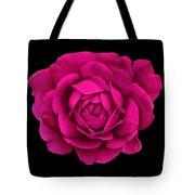 Dramatic Hot Pink Rose Portrait Tote Bag