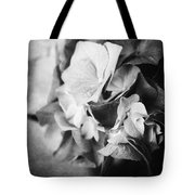 Dramatic Hydrangea In Black And White Tote Bag