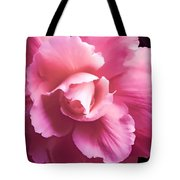 Dramatic Pink Begonia Floral Tote Bag by Jennie Marie Schell