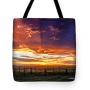 Dramatic Prairie Sunset Tote Bag