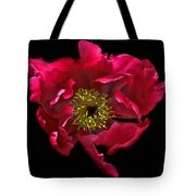 Dramatic Red Peony Flower Tote Bag