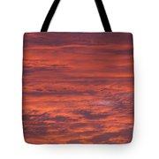 Dramatic Red Sky Tote Bag