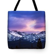 Dramatic Sawtooth Sunset Tote Bag