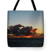 Dramatic Sea Sky At Dawn Tote Bag