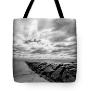 Dramatic Sky At Penfield Jetty Tote Bag