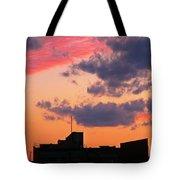 Dramatic Sky Dwarfs Halifax Skyline Tote Bag