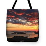 Dramatic Sunset Over Dubrovnik Croatia Tote Bag