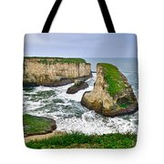 Dramatic View Of Shark Fin Cove In Santa Cruz California. Tote Bag