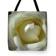 Dramatic White Rose 2 Tote Bag