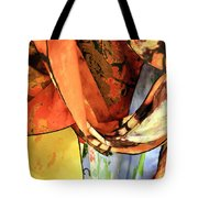 Draped Scarves Tote Bag