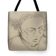 Drawing Of A Woman Tote Bag