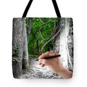 Drawn To The Woods With Imagination Tote Bag