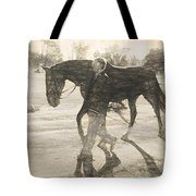 Drawn Walking Tote Bag