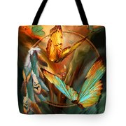 Dream Catcher - Spirit Of The Butterfly Tote Bag