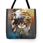 Dream Catcher - Three Eagles Tote Bag