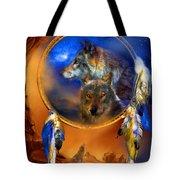 Dream Catcher - Wolf Dreams Tote Bag