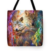 Dream Catcher - Wolf Spirits Tote Bag