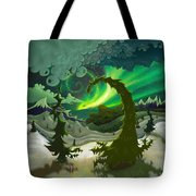 Dream Landscapes Aurora Green Tote Bag