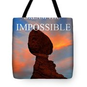 Dream The Impossible Card Poster Two Tote Bag