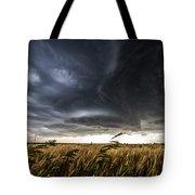 Dreamcatcher - Scenic Storm Over Kansas Plains Tote Bag