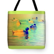 Ducks Dreaming Of Dreaming Ducks  Tote Bag