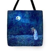 Dreaming In Blue Tote Bag by Rhonda Barrett