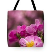 Pink Old Fashioned Rose Tote Bag