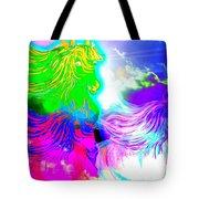 Dreaming Of Rainbow Horses Tote Bag