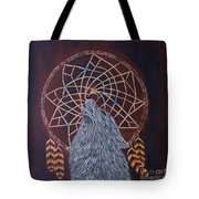 Dreaming Wolf Tote Bag