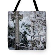 Dreamy Snowy Cross Tote Bag