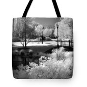 Surreal Infrared Black White Infrared Nature Landscape - Infrared Photography Tote Bag