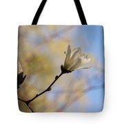 Dreamy Wild Magnolia In The Forest Tote Bag