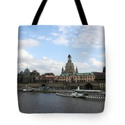 Dresden And River Elbe - Germany Tote Bag