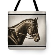 Dressage Horse Old Photo Fx Tote Bag by Crista Forest